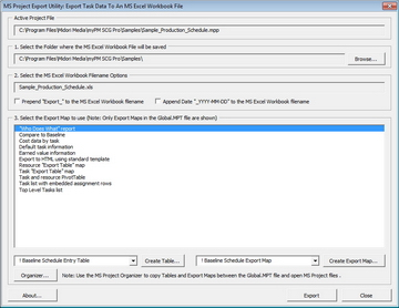 MS Project Export Utility